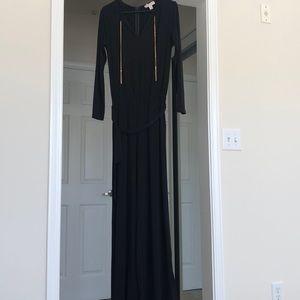 Michael Kors long sleeve flare leg jumpsuit